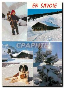 Modern Postcard Images of Chez Nous in Savoie Dog Folklore