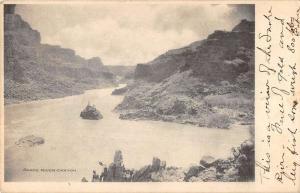 Pocatello Idaho postmark view of Sanke River Canyon antique pc Z51198