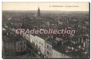 Old Postcard Montauban General view (West)