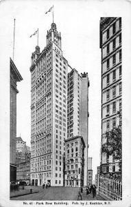 US New York City, Park Row Building, J. Koehler N.Y.