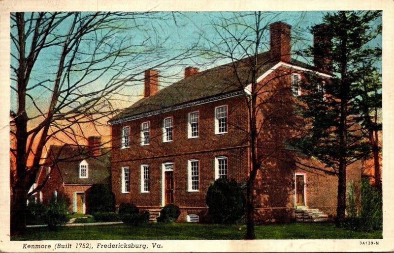 Virginia Fredericksburg Kenmore Built 1752 PM1944Curteich