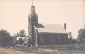 Windom Minnesota~Catholic Church~House Next Door~Empty Field~c1912 RPPC