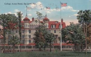 Florida Deland College Arms Hotel 1917 Curteich