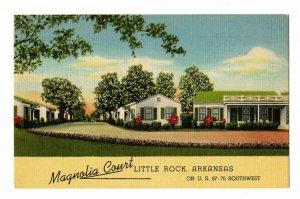 Little Rock AR Postcard Street View Magnolia Court Motel On US Hwy 67-70 #75631