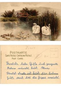 CPA AK Im Schilf Meissner & Buch Litho Serie 1281 (730456)