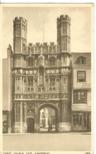 Christ Church Gate, Canterbury, 1951 used Postcard