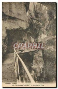 CARTE Old Post Surroundings Annecy Gorges du Fier