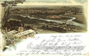 Metz Gruss Aus Greetings From 1899 some roundness to corners from wear, wri...