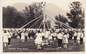 RP: May Day , May Pole Dance , girls, KAMLOOPS , B.C. , Canada , 1923 #2