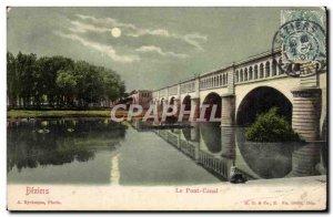 Old Postcard Beziers Canal Bridge