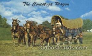 Canestaga Wagon Western Cowboy, Cowgirl Postcard Postcards  Canestaga Wagon