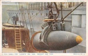 British Military Navy Shell for Lizzies Big 'Uns Antique Postcard J7