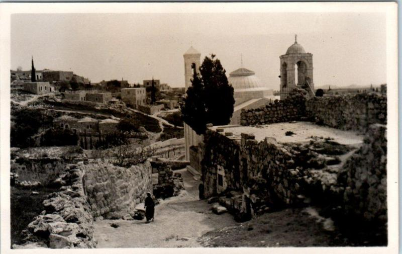 RPPC JERUSALEM, Israel TOMB of LAZARUS, Bethany Real Photo