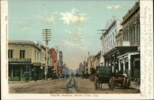 Santa Cruz CA Pacific Ave c1905 Postcard