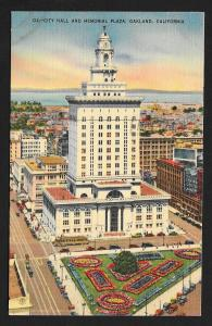 Air View City Hall Memorial Plaza Oakland CA Used c1930s