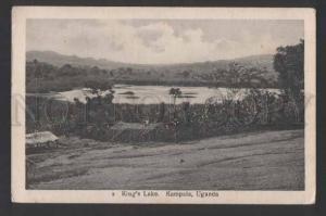 117828 Uganda KAMPALA King's Lake Vintage postcard