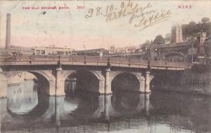 BATH, Somerset, England, PU-1904; The Old Bridge