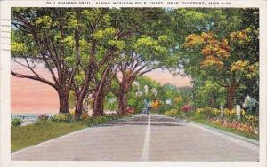 Old Spanish Trail Along Mexican Gulf Coast Near Gulfport Mississippi 1937