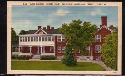 Virginia Post Card Davis Bldg Blue Ridge San Charlottesville