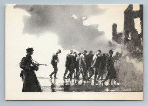 WWII Soviet Prisoners of war Soldiers Fascist by KUKRYNIKSY Russian VTG Postcard