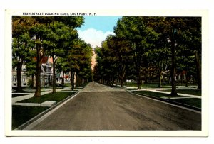 NY - Lockport. High Street looking East