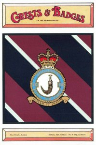 Postcard RAF Royal Air Force No.8 Squadron Crest Badge No.24 NEW BK24