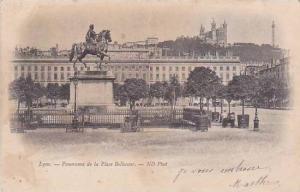 France Lyon Panorama de la Place Bellecour 1903