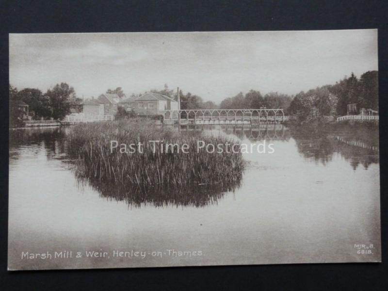 Oxfordshire : Marsh Moulin & Weir, Henley On Thames c1908 par M. J.R, B