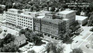 1968 Sherman Hospital Elgin IL Illinois Ad RPPC Photo Antique Postcard