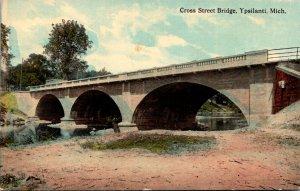 Michigan Ypsilante Cross Street Bridge 1913