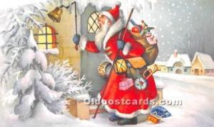 Santa Claus Postcard Old Vintage Christmas Post Card Smaller size postcard 3 ...