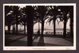 SPAIN Paseo de Los Martires ALICANTE Postcard RPPC Real Photo Espana