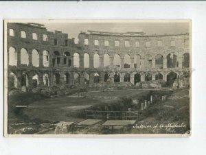401328 Croatia Pula POLA ruins amphitheater Vintage photo PC