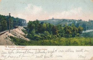 Country Landscape along Rochester & Eastern Rapid Railway - New York pm 1905