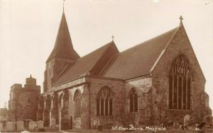MAYFIELD SUSSEX ENGLAND~ST DUNSTAN'S CHURCH~H CAMBURN PHOTO POSTCARD