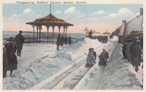 Quebec City , Quebec , Canada , 30-40s ; Dufferin Terrace & Toboggan Slide