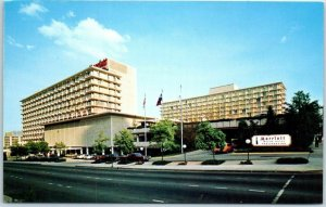 Atlanta, Georgia Postcard MARRIOTT HOTEL Courtland & International Blvd. c1960s