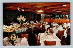 New York NY-New York, Stockholm Restaurant,  Advertising, Chrome Postcard