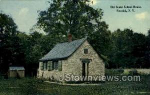 Old Stone School House Hoosick NY Writing On Back