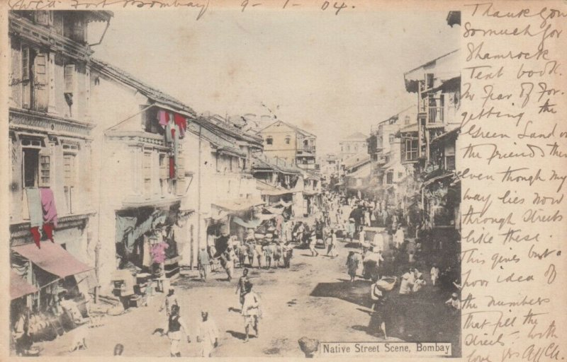 BOMBAY , India , 1904 ; Native Street Scene
