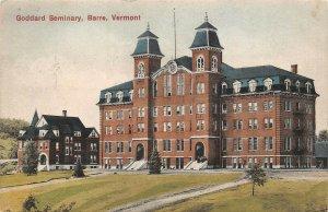 LPV84 Barre Vermont VT Postcard Goddard Seminary Hand Colored