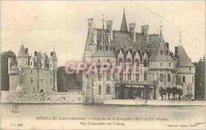 Postcard Old Missillac (Loire Interieure) Chateau of Brestesche (thirteenth a...