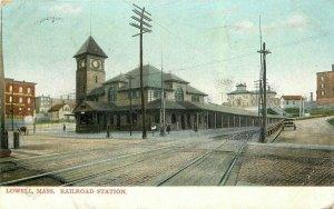 Lowell Massachusetts Railroad Station 1937 Postcard 21-10142