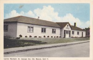 Centre Recreatif , St. Georges Est , Cte. Beauce , Quebec , Canada , 1930s