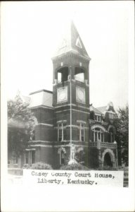 Liberty KY Casey County Court House Real Photo Postcard
