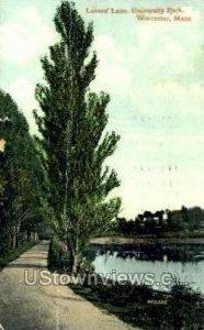 Lovers Lane, University Park - Worcester, Massachusetts MA