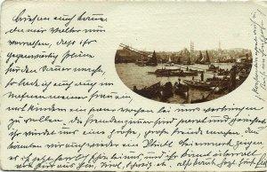 turkey, CONSTANTINOPLE, Harbour Scene (1911) RPPC Postcard