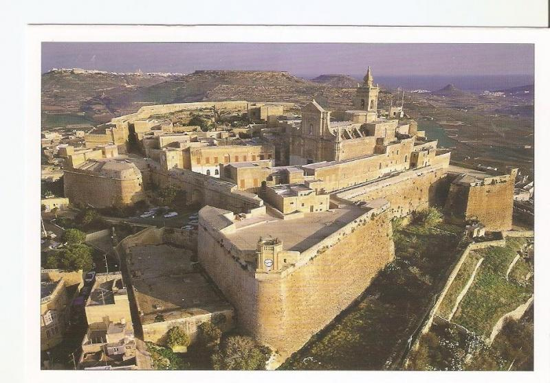 Postal 044020 : The Citadel at Victoria aerial view - Gozo