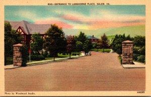 Virginia Salem Entrance To Langhorne Place