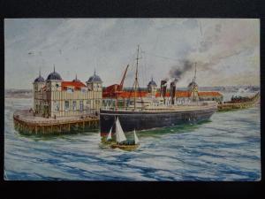 Shipping IMMINGHAM DEEP WATER DOCK Eastern Jetty c1912 Postcard